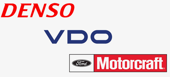 Denso, VDO, Motorcraft logos